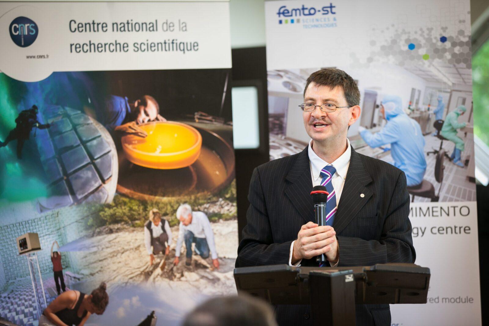 Cérémonie de remise de médaille d'arent (CNRS)