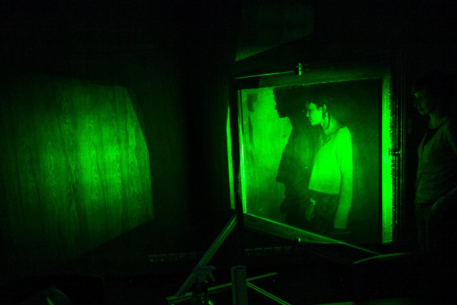 """Exposition """"expérience holographique"""" au Gymanse espace culturel de l'Université de Franche-Comté."""